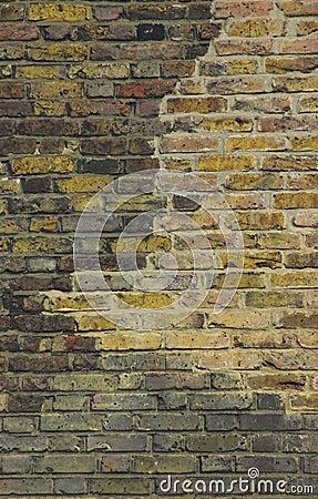 Old british brick wall