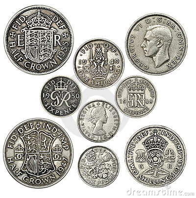 Free Old British Coins Stock Photo - 22683830