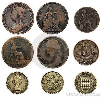 Free Old British Coins Royalty Free Stock Images - 22756569