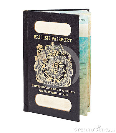 Old British passport