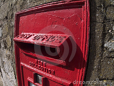 Old British post box