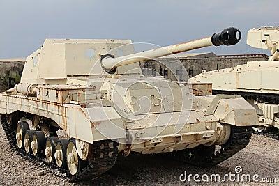 Old British tank destroyer
