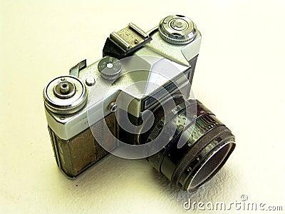Old broken camera