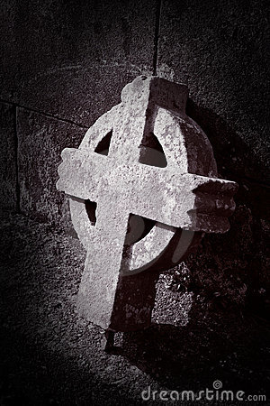 Old broken celtic cross