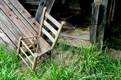 Old Broken Down Chair