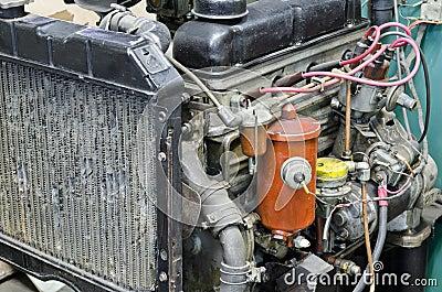 An old broken engine