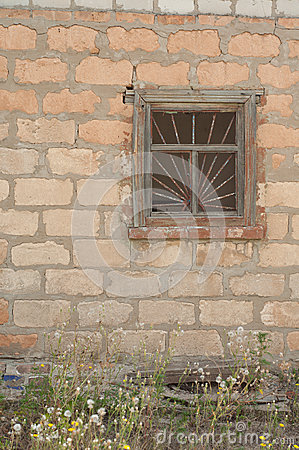 Old broken window