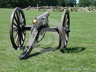 Old bronze civil war canon
