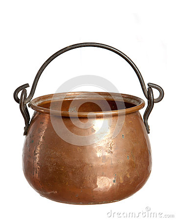 Old  bronze pot