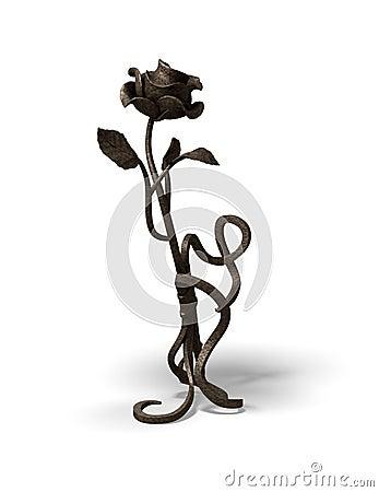 Old bronze rose