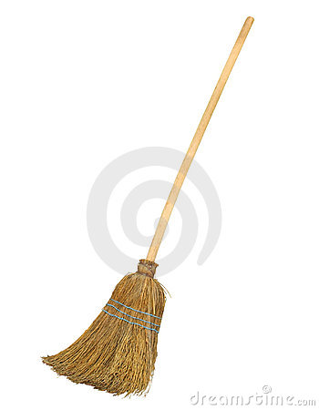 Free Old Broom With Clipping Path Royalty Free Stock Photography - 15869807