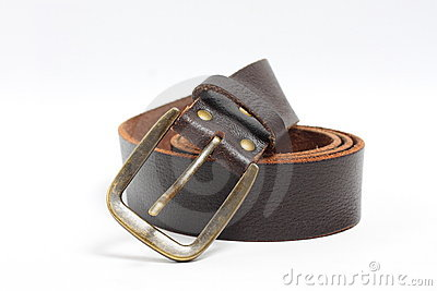 Old brown belt