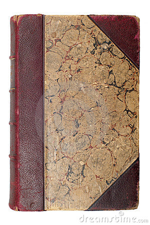 Old brown book cover