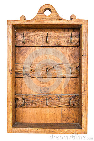 Free Old Brown Vintage Wooden Rusty Key Holder Box Stock Photos - 33392993