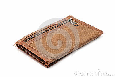 Old brown wallet