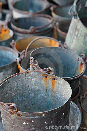 Free Old Buckets Stock Image - 1072041