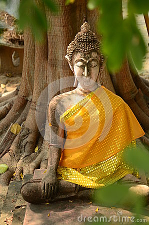 Free Old Buddha Statue In Temple, Thailand Royalty Free Stock Images - 51756019