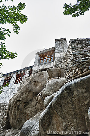 Old buddhist monastery from Leh, India