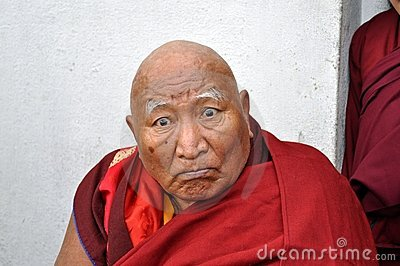 Old Buddhist monk Editorial Photo