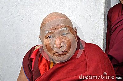 Old Buddhist monk Editorial Photo