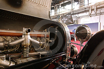 Old Bugatti engine Editorial Image