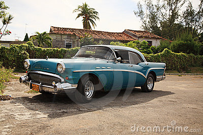 Old Buick car in Cuba Editorial Photography