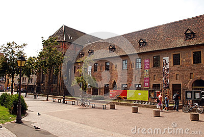 Old building in Colmar, Alsace Province Editorial Photo