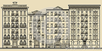 Old building and facades of new york
