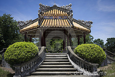 Old building in Hue in vietnam