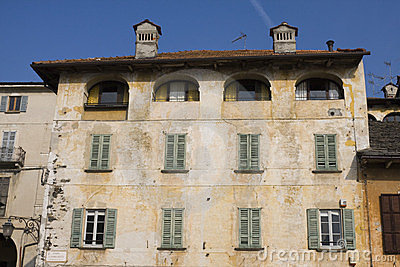 Old building in orta san giulio