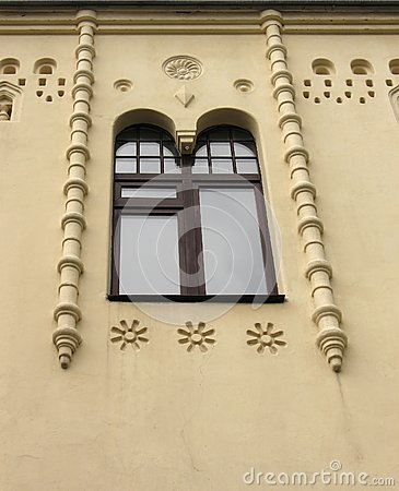 Old building window
