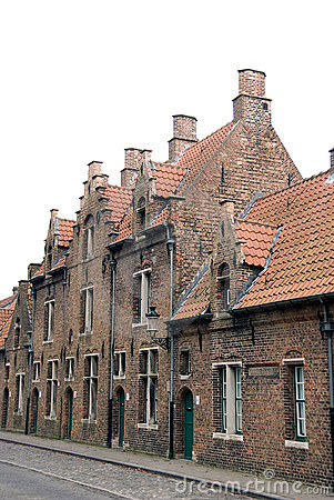 Old buildings in Bruges