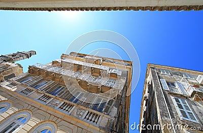 Old buildings in Corfu