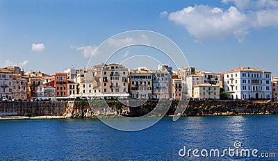 Old buildings in Corfu town
