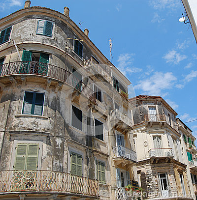 Old buildings in Corfu town