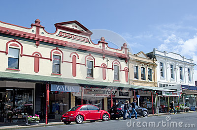 Old buildings in Devonport New Zealand Editorial Photo