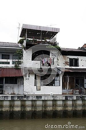 Old buildings in disrepair