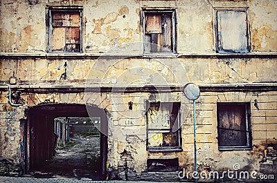 Old buildings in Vilnius city