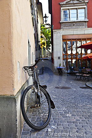 Old Bycicle in Zurich Streets