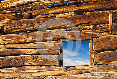 Old Cabin Window
