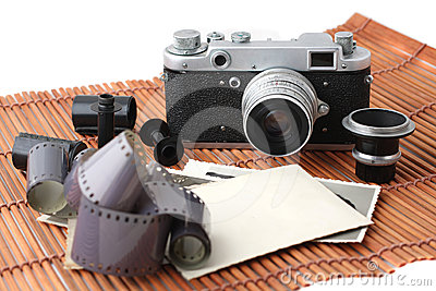 Old camera and film