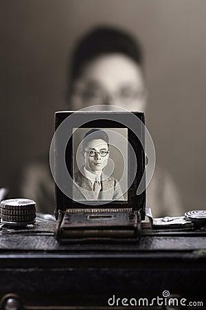 Old camera s viewfinder