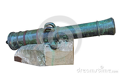 Age-old ship cannon