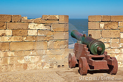 Old cannon in the fort