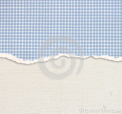 Free Old Canvas Texture Background With Delicate Stripes Pattern And Blue Vintage Torn Paper Royalty Free Stock Photography - 35830447