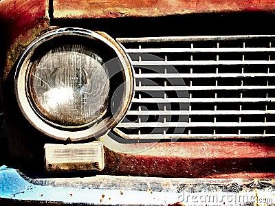 Old car bumper