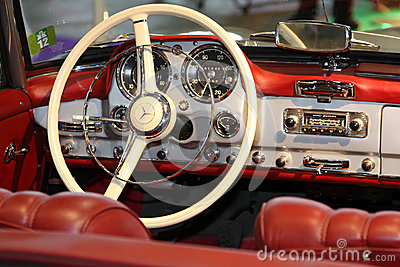 Old car cockpit Editorial Stock Photo