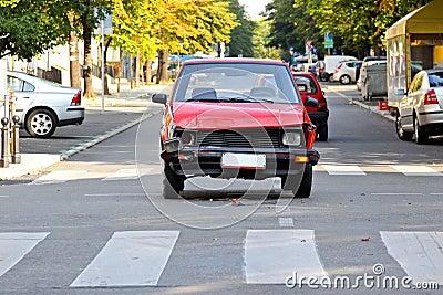 Old car crash