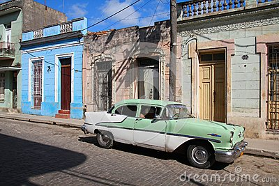 Old car in Cuba Editorial Image