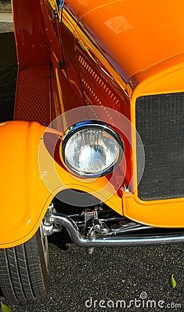 Old Car Front Details